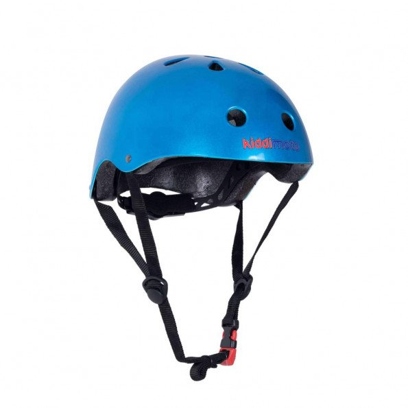 Kiddimoto cykelhjelm str. M - metal blå