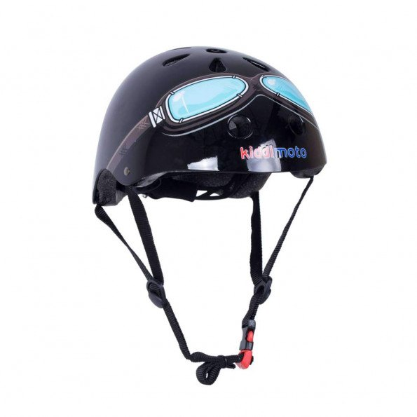 Kiddimoto cykelhjelm str. M - sort brille