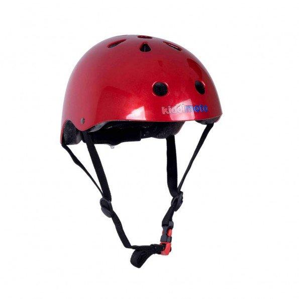 Kiddimoto cykelhjelm str. S - metal rød