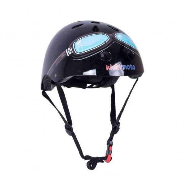 Kiddimoto cykelhjelm str. S - sort brille