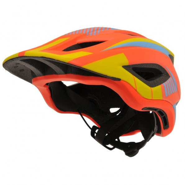Kiddimoto Ikon Full Face hjelm Medium - orange/gul
