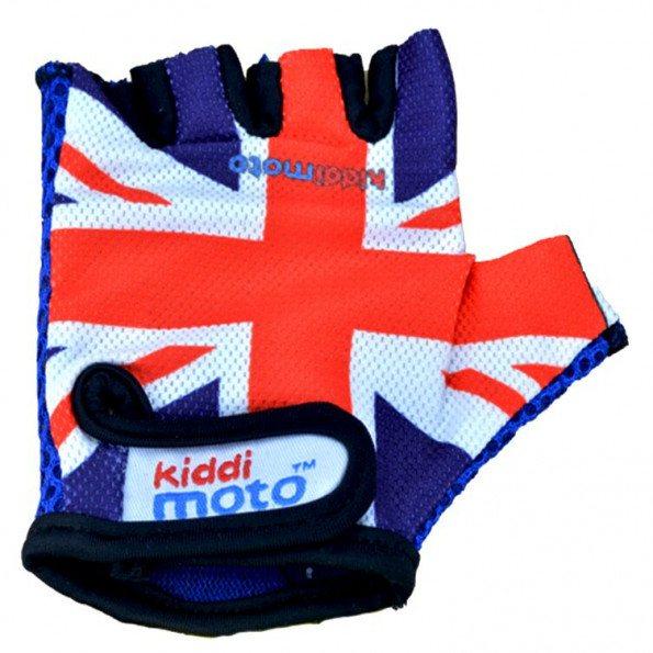 Kiddimoto Union Jack handsker, str. medium