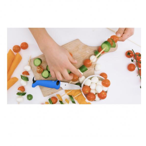 Kinderkitchen knivsæt til børn, 2 dele - grøn/blå