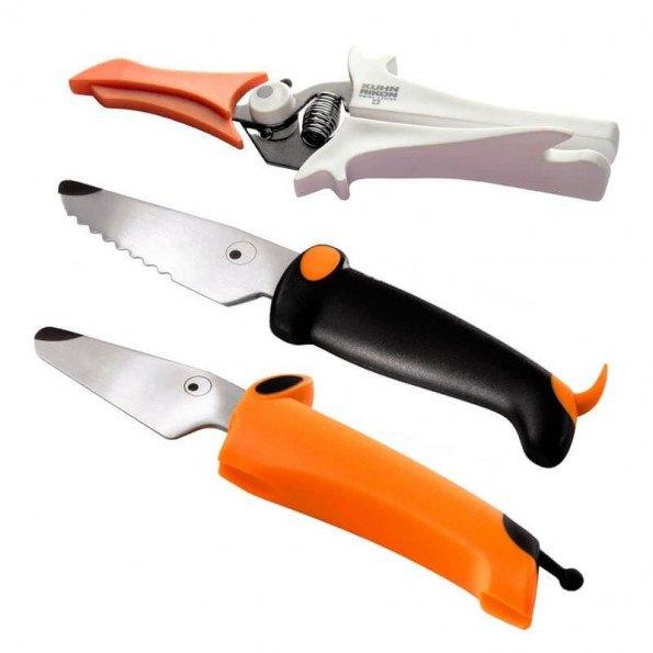 Kinderkitchen køkkenredskaber 3 dele - orange/sort