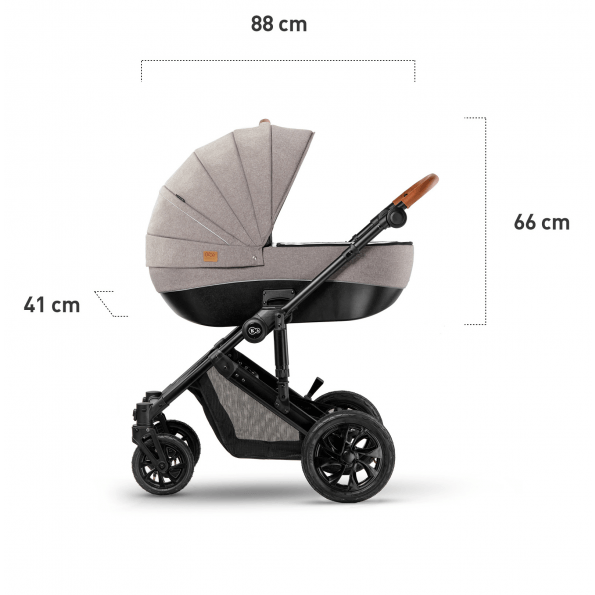 Kinderkraft PRIME 2in1 kombivogn 2020 - beige