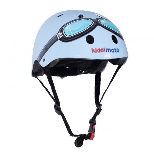 Kiddimoto Hjelm - Str. M, Goggle Blå