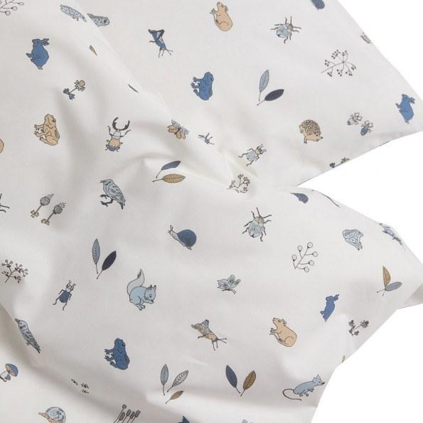 Leander Juniorsengetøj Forrest 100x140 cm, Dusty Blue