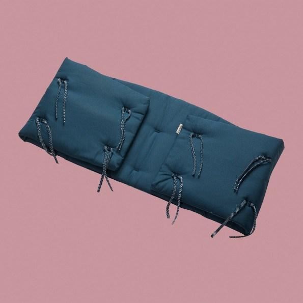 Leander Sengerand til babyseng - dark blue
