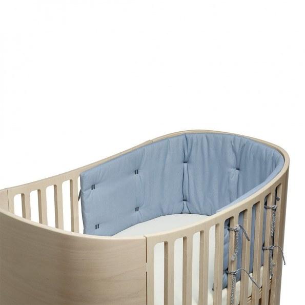 Leander sengerand til classic babyseng - dusty blue