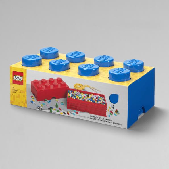 LEGO Opbevaringskasse 8 - Blåx3