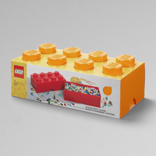 LEGO Opbevaringskasse 8 - Orangex3