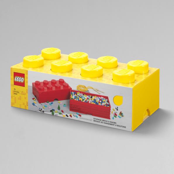 LEGO Opbevaringskasse 8 - Gul