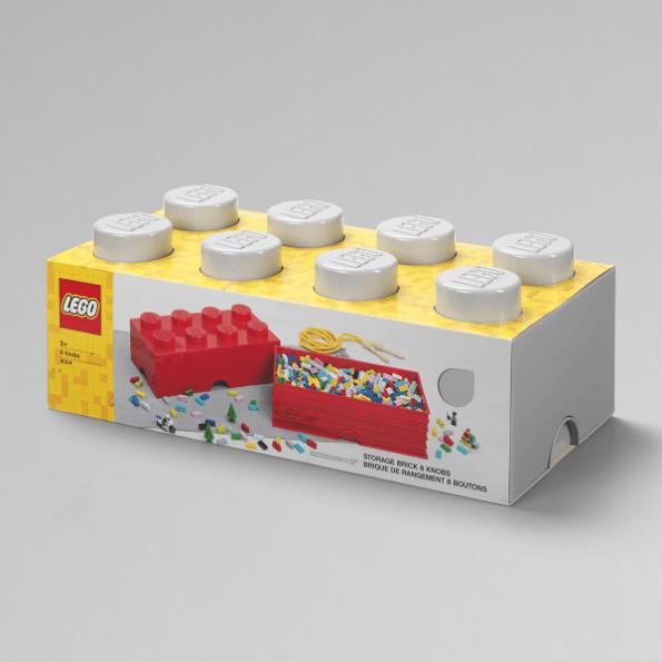 LEGO Opbevaringskasse 8 - Gråx3