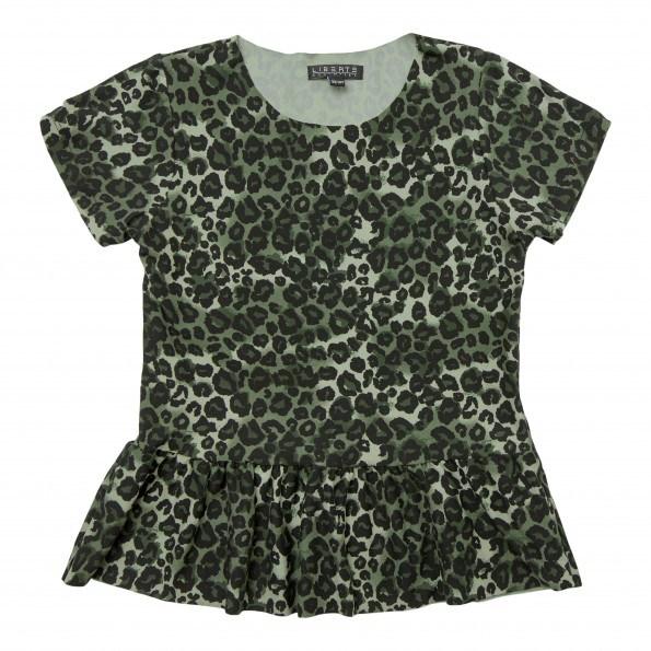 Liberte Alma Frill t-shirt junior – Army Leo