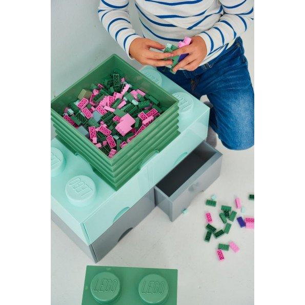 LEGO Opbevaringskasse 4 - Sand-Grøn
