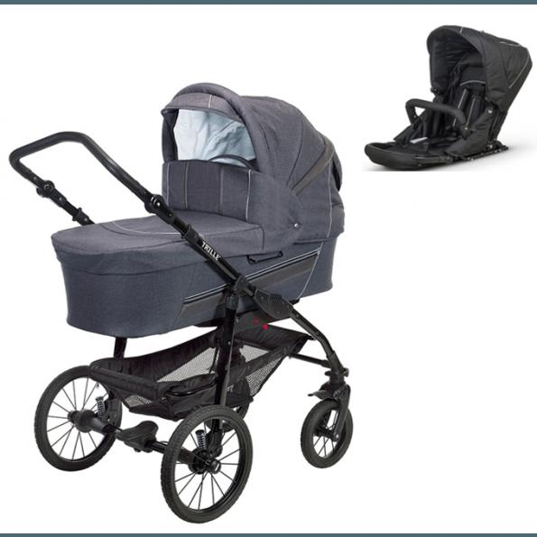 TRILLE Dream Light barnevogn + sæde - Light merkur