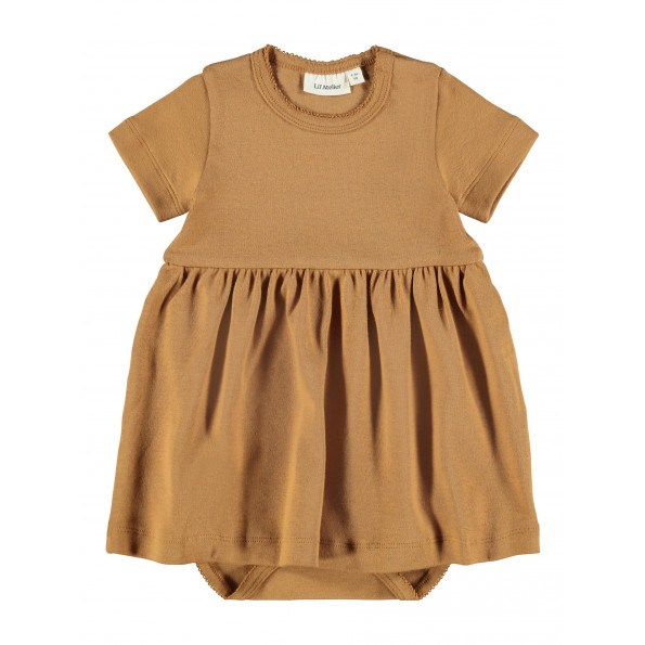 Lil'Atelier Gaya kjole - Tobacco Brown