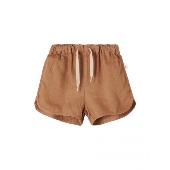 Lil'Atelier Saga shorts - Tobacco Brown