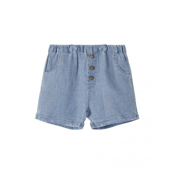 Lil'Atelier Soran shorts - Medium Blue Denim