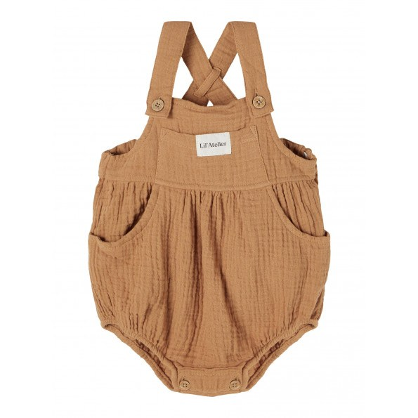 Lil'Atelier Sylvester overalls - Tobacco Brown