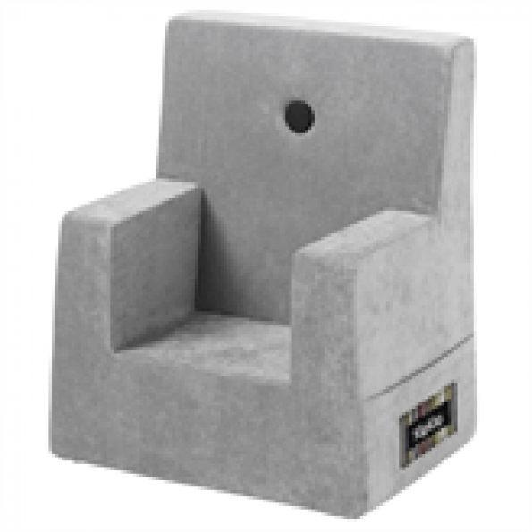 By Klip Klap Kids Chair - Argent Grey Velour