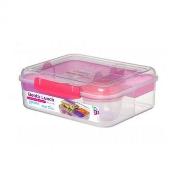 Sistema Bento Box To Go madkasse 1,65L - Klar/Pink