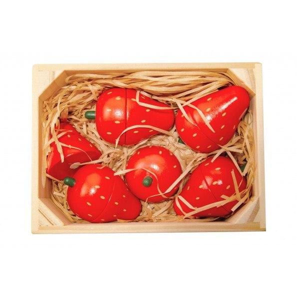 Magni jordbær med magnet i en kasse – 5 stk
