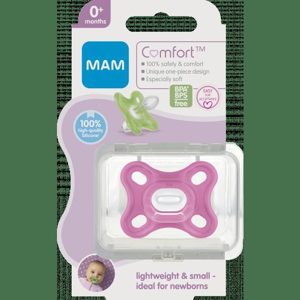 MAM Comfort sut 0m - pink