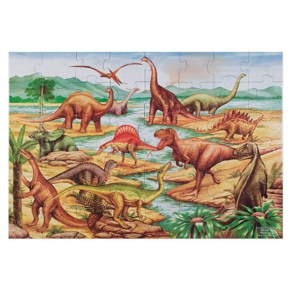Melissa & Doug dinosaur gulv puslespil - 48 brikker