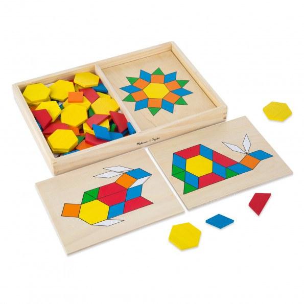 Melissa & Doug mønsterblokke klassisk legetøj