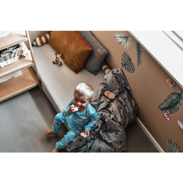 Filibabba juniorsengetøj space 100x140 cm - grå