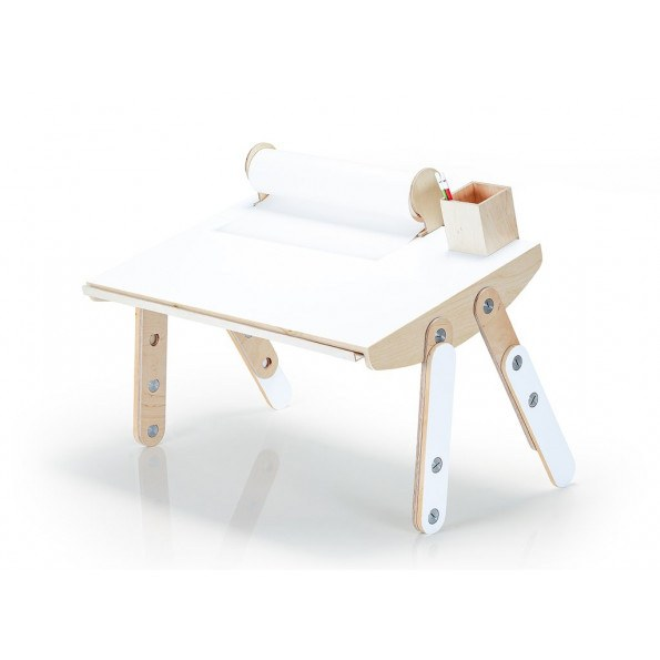 Lil Gaea Milky desk lamineret  - hvid