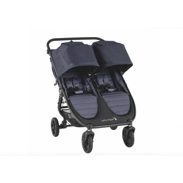 Baby Jogger City Mini GT 2 Double søskendevogn inkl. regnslag - Carbon