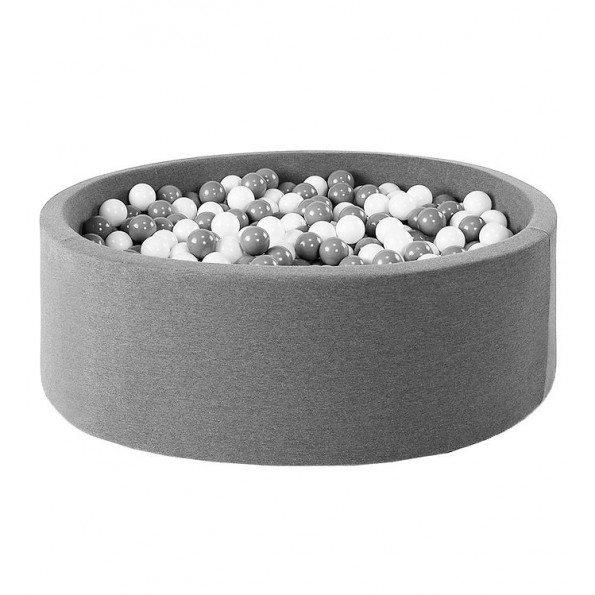 MISIOO rundt Boldbassin med 150 bolde - Grå (90x40 cm)