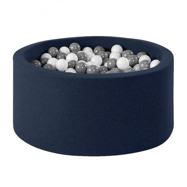 MISIOO rundt Boldbassin med 150 bolde - Mørkeblå (90x40 cm)