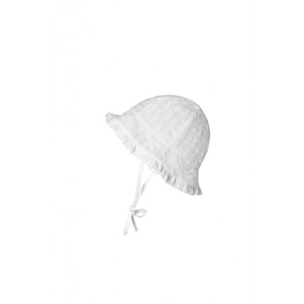 mp Denmark Flora Bell sommerhat - Hvid