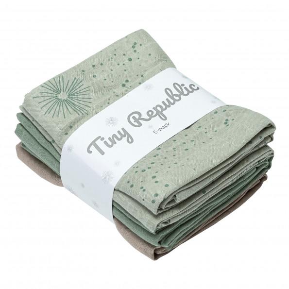 Tiny Republic stofbleer 5-pak - Green combi