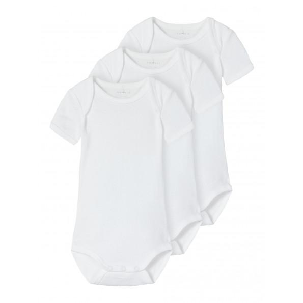 Name It 3-pak SS SOLID WHITE body – Bright White