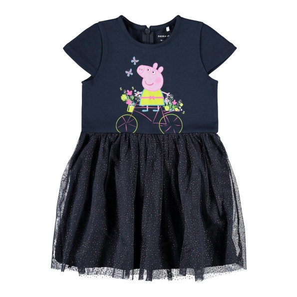 Name It Peppapig kjole - Dark Sapphire