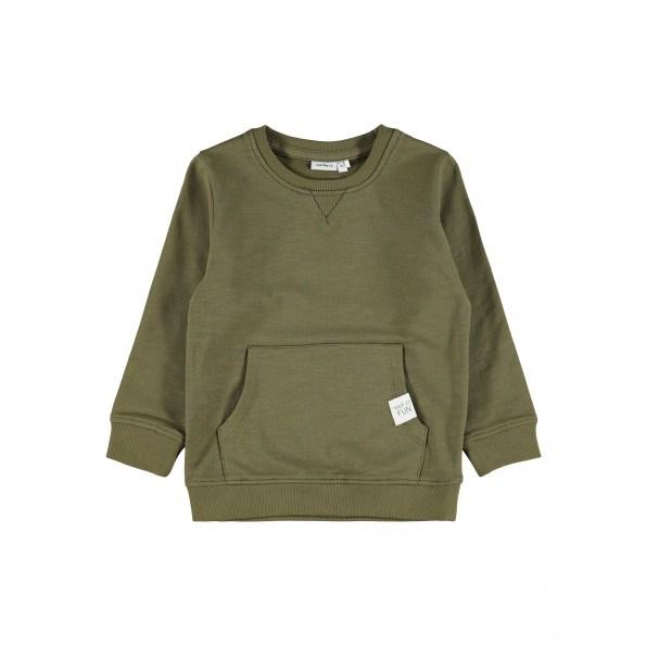 Name It Fajan sweatshirt m. lomme - Ivy Green