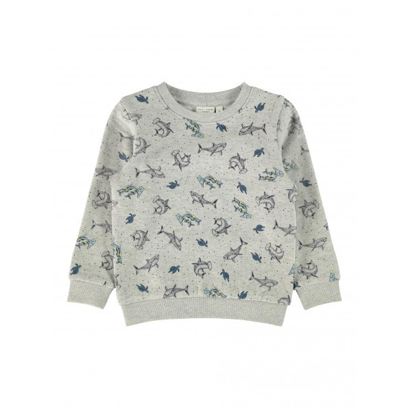 Name It sweatshirt m. print - Grey Melange