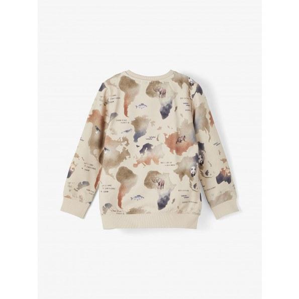 Name It sweatshirt m. verdensdele - Oatmeal