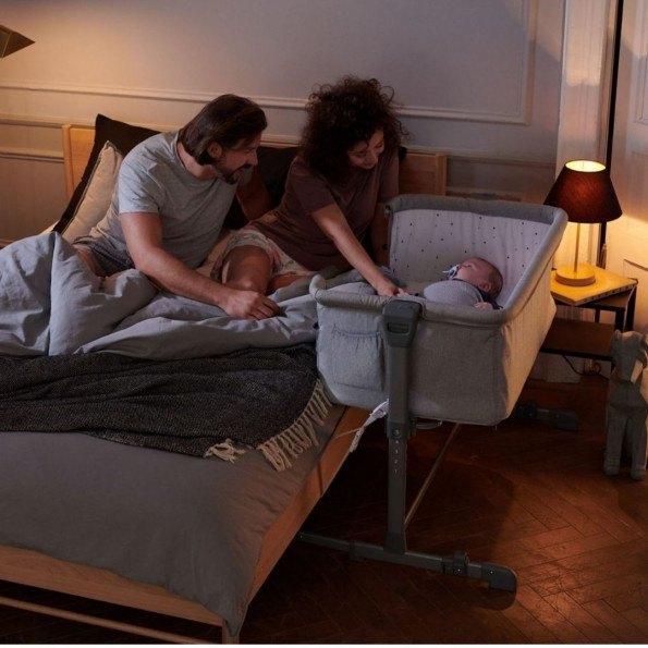 Kinderkraft  NESTE UP Sidebed Crib - Grå