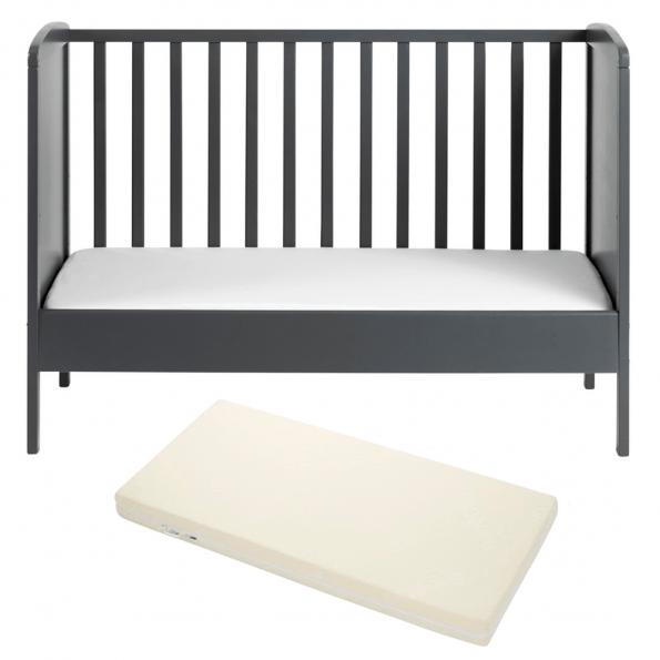 Tiny Republic tremmeseng Nora 120x60 cm. grå + Baby Dan Airlux
