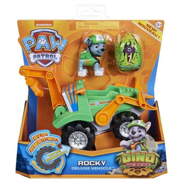 Paw Patrol Dino Deluxe Vehicles Rocky