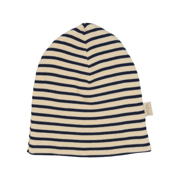 Petit Piao stribet hat - Marine/Cream