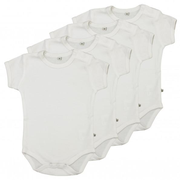 Pippi Kortærmede Bodystockings 4-pak - Hvid