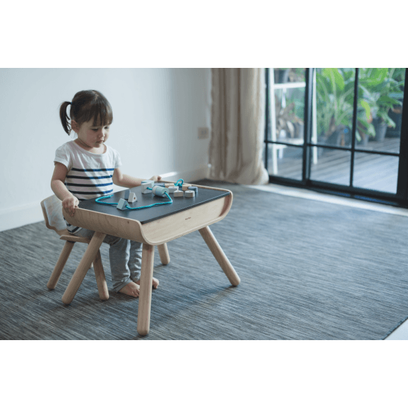 PlanToys Bord & Stol - Sort