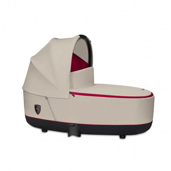 Priam Lux Carry Cot Fashion Edition - Ferrari Silver Grey