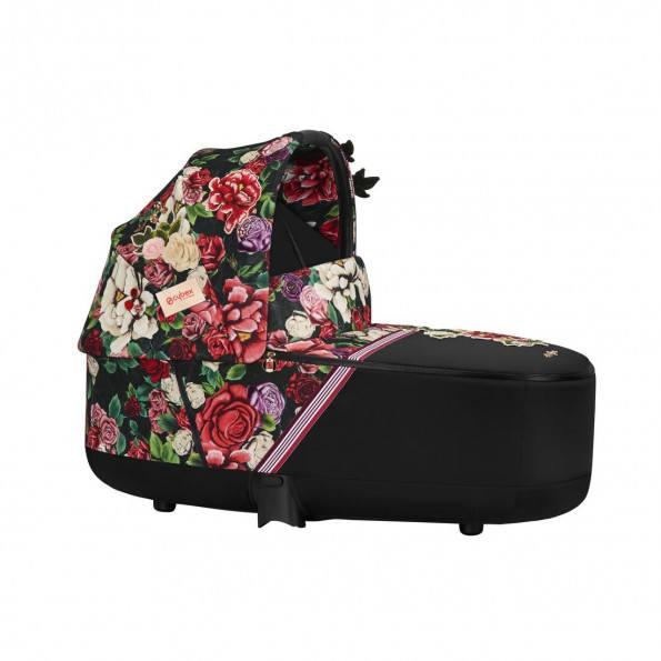 Priam Lux Carry Cot Fashion Edition - Spring Blossom Dark